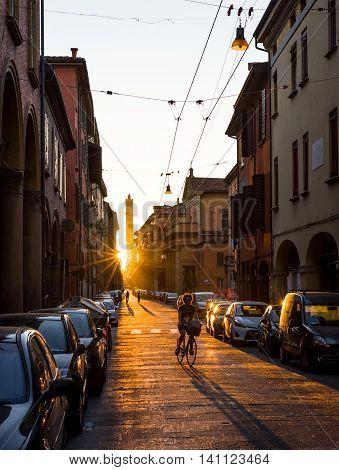 Maggiore Street Of Bologna, Emilia-romagna. Italy.