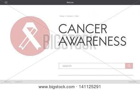 Pink Ribbon Breast Cancer Healthcare Concept