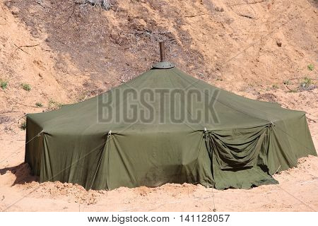 Big Military Tent In The Field