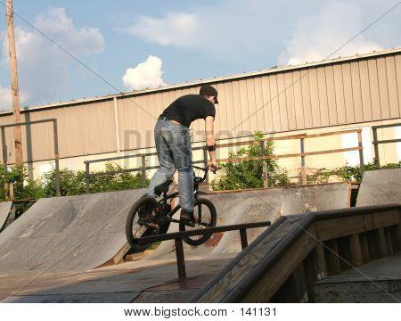 Bmx Biker Jumping
