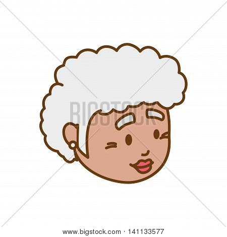grandmother old person woman female icon. Isolated and flat illustration. Vector graphic