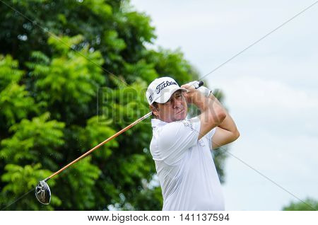 CHONBURI - JULY 31 : Terry Pilkadaris of Australia in King's Cup 2016 at Phoenix Gold Golf & Country Club Pattaya on July 31 2016 in Chonburi Thailand.