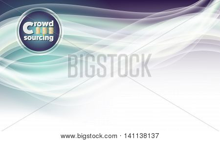 Vector abstract background and icon of crowdsourcing