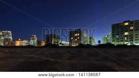 Miami South Beach Florida at night Famous tourist destination.