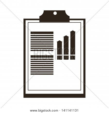 flat design clipboard with graph icon vector illustration