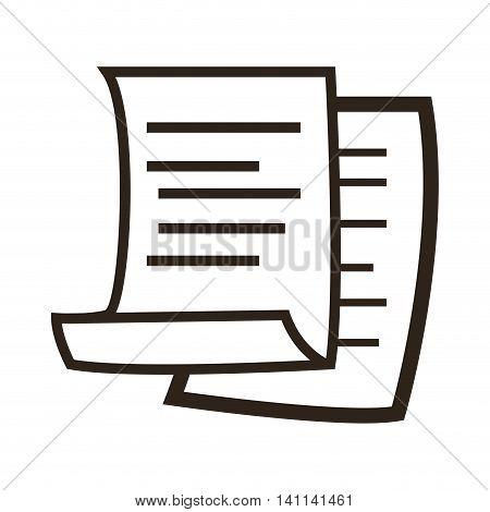 flat design paper document icon vector illustration