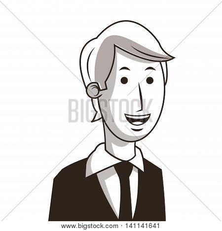 flat design happy businessman icon vector illustration