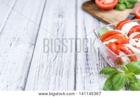 Mozzarella Cheese With Fresh Tomatoes