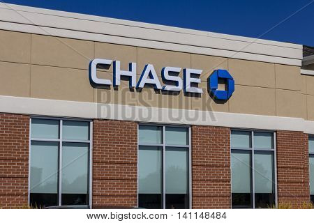 Muncie IN - Circa July 2016: Chase Bank Retail Location. Chase is the U.S. Consumer and Commercial Banking Business of JPMorgan Chase V
