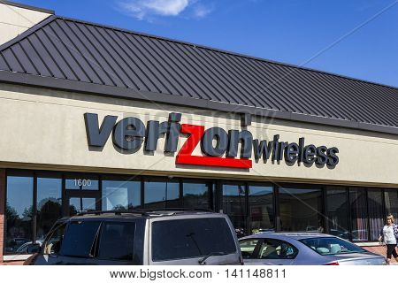 Muncie IN - Circa July 2016: Verizon Wireless Retail Location. Verizon is One of the Largest Communication Technology Companies VIII