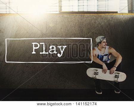 Play Leisure Joy Fun Entertainment Playing Sports Concept