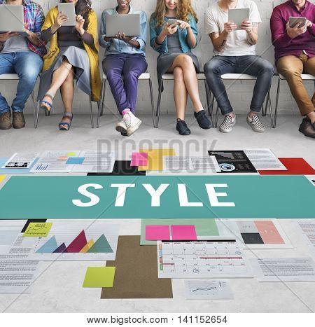 Style Fashionable Design Trendy Posh Concept