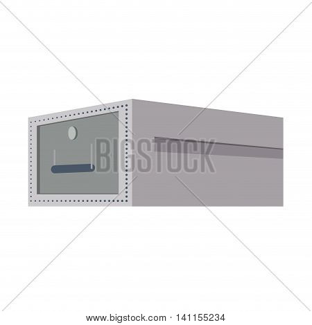 Strongbox security money financial item value icon. Isolated and flat illustration. Vector graphic