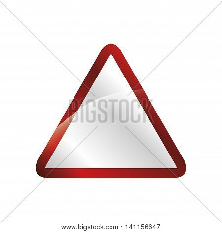 road sign security street transportation urban icon. Isolated and flat illustration. Vector graphic