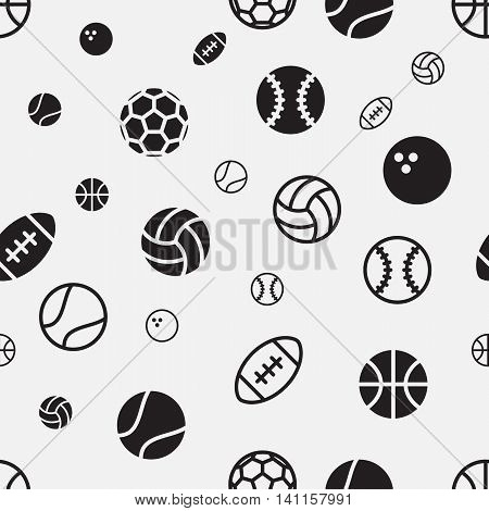 Stock vector sport ball seamless pattern texture background