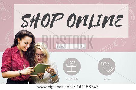 Shop Online Internet Shopping Store Concept