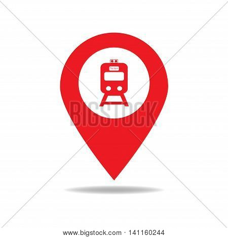 Map-poin-train-red
