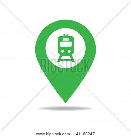 Map-poin-train-green