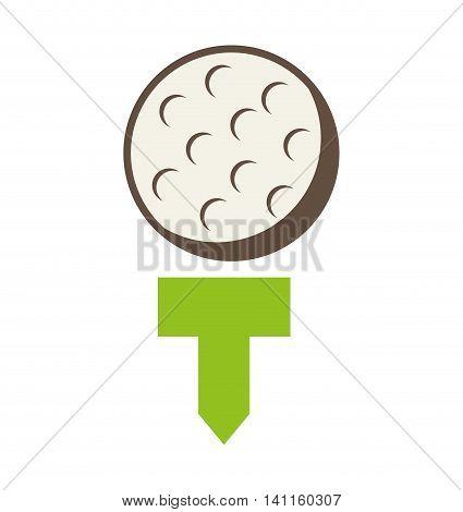 ball golf equipment icon vector illustration graphic
