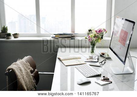 Computer Journal Bouquet Workspace Concept