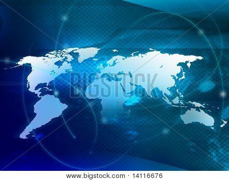 mapa de tecnología de mundo de estilo