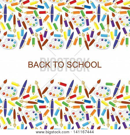 Vector illustrations of back to school congratulatory background