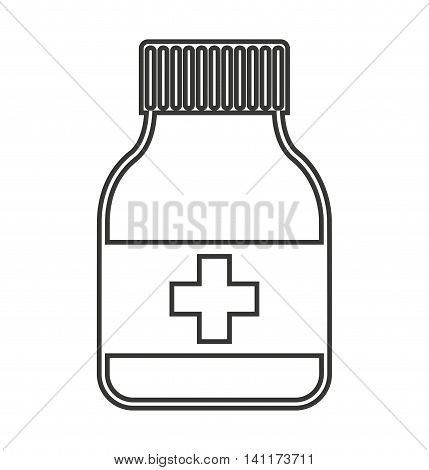bootle drugs isolated icon vector illustration graphic