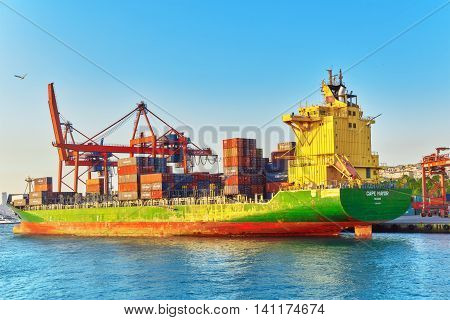 Istambul, Turkey-may 07, 2016: Seaport Of The Largest City In Turkey -  Istanbul, View Of The Harbor