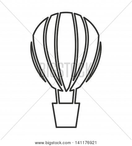 balloon air hot vehicle isolated icon vector illustration design