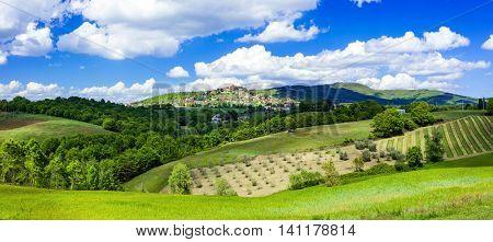 scenic landscapes of Italy - Montegabbione in Umbria