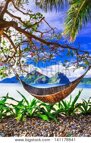 Tropical relaxing holidays - paradise islands in Palawan, Philippines