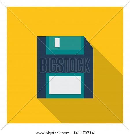 Technology concept represented by diskette icon. Colorfull and flat illustration.