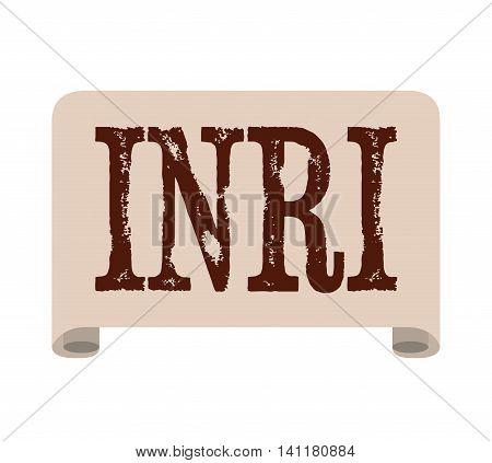 inri label jesus paper icon isolated vector