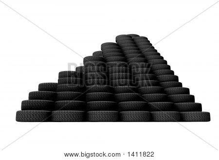 Pyramid Of Tyres