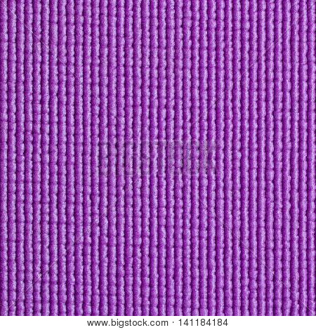Closeup detail of blue yoga mat texture background