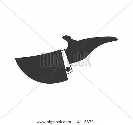 Waiter hand arm suit silhouette icon. Isolated and flat illustration. Vector graphic