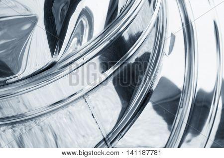 Shining Bent Metal Surface, Blue Toned