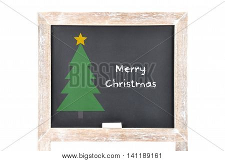 Colorful and crisp image of christmas greetings on board