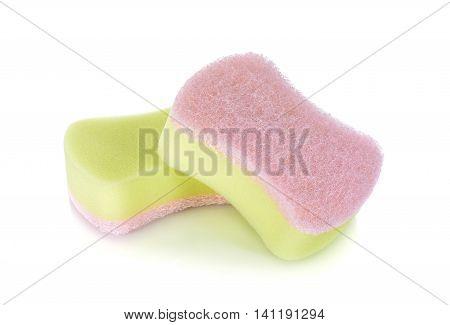 pile of unused sponge on a white background