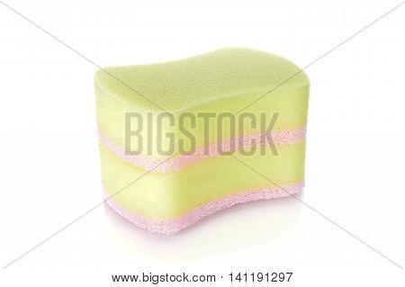 stack unused sponge on a white background
