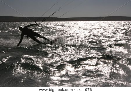 Kite Surfer Sun Reflection