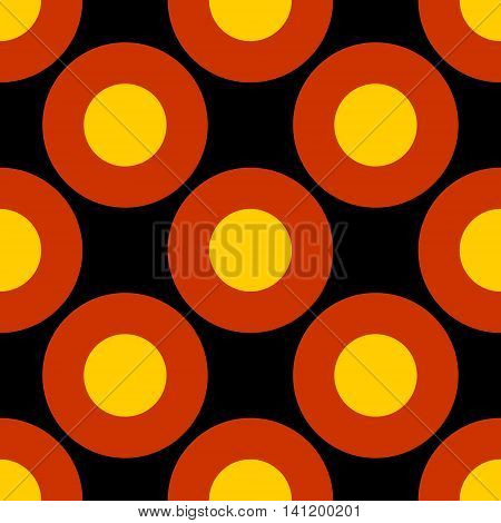 Germany flag design concept. Seamless geometric pattern. Circles painted by colors from Germany national flag