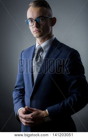 Young Guy In Glasses