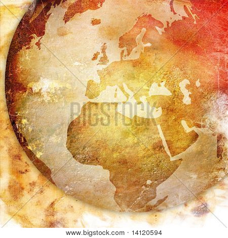 de arte de Europa mapa-vintage