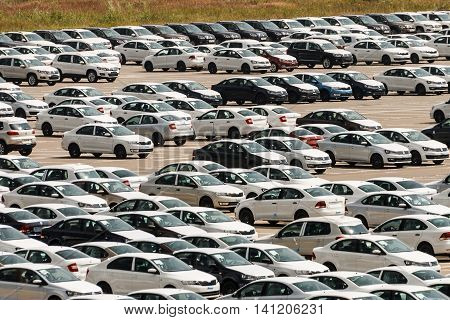 Automobile Factory, The Parking Of New Car