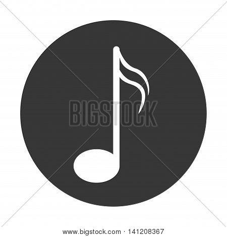 flat design semiquaver musical note icon vector illustration