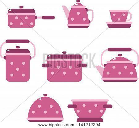 utensils vector illustration,  kitchen background, utensils icons set