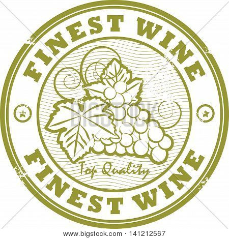 Grunge rubber stamp with words Fines Wine, vector illustration