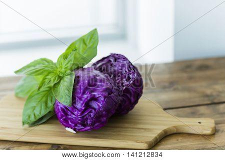 A basil and Scotch kale