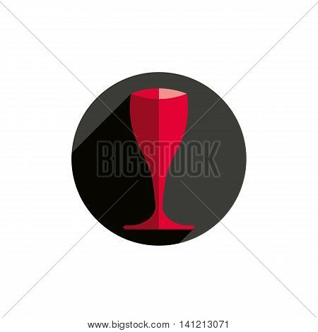 HoReCa vector graphic element sophisticated champagne glass.